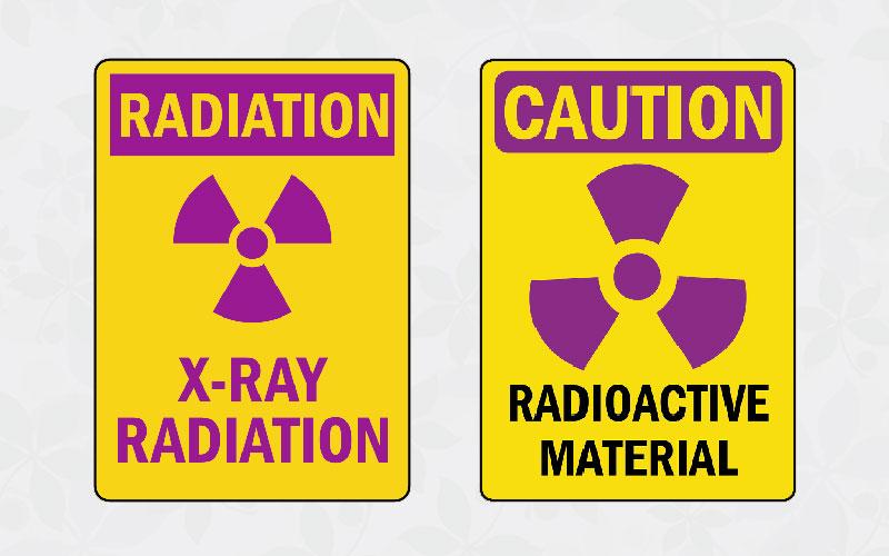 two standard radiation warning signs