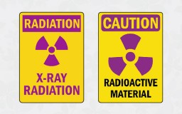 two standard radiation warning signs