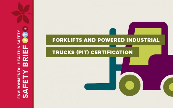 Image of forklift for March Safety Brief