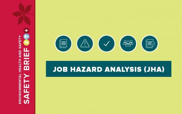Icon graphic for job hazard analysis.