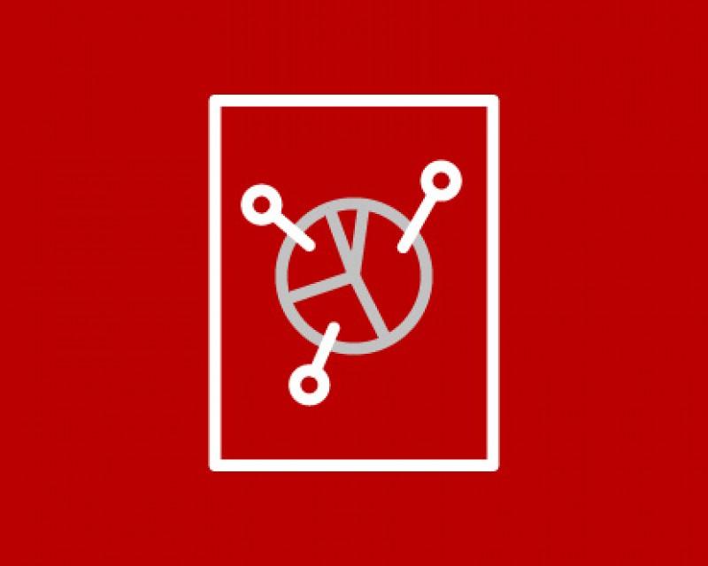 icon of a pie chart denoting data analysis