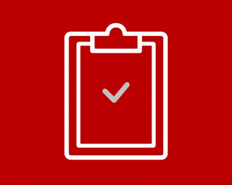 icon of a clipboard and check mark